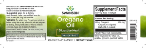 Supliment alimentar, Ulei de Oregano 10:1 (150 mg), Swanson Oregano Oil - 120 capsule (120 doze) [1]