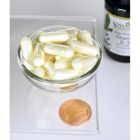Supliment alimentar, Vitamina D3 1000 UI, Swanson High Potency Vitamin D3 - 30 capsule [1]