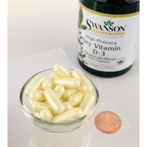 Supliment alimentar, Vitamina D3 1000 UI, Swanson High Potency Vitamin D3 - 250 capsule [2]