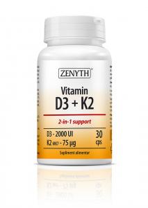 Supliment alimentar, Zenyth Vitamin D3 + K2 - 30 capsule [0]