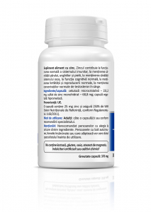 Supliment alimentar, Zenyth Zinc 25 (25 mg) - 30 capsule (30 doze) [1]
