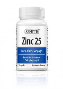 Supliment alimentar, Zenyth Zinc 25 (25 mg) - 30 capsule (30 doze) [0]