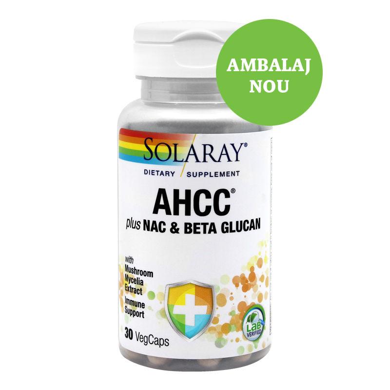 AHCC plus NAC  Beta Glucan 30 capsule vegetale