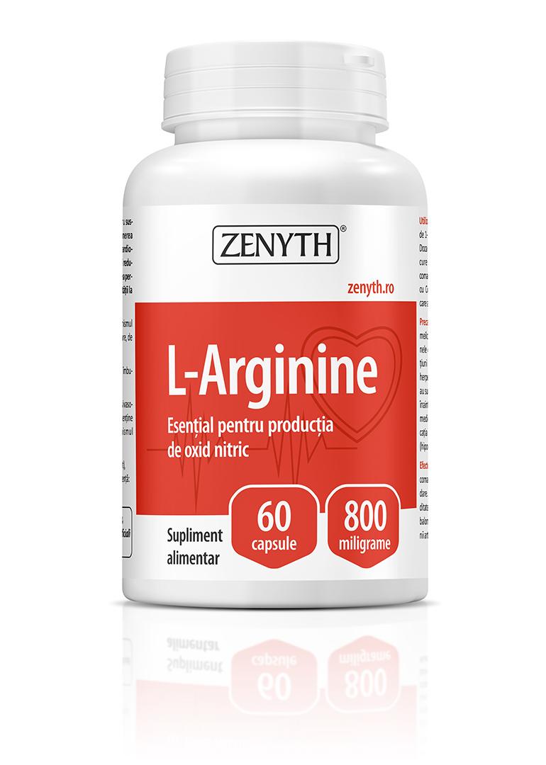 Supliment alimentar, L-Arginine (800 mg) - 60 capsule
