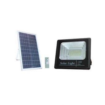Proiector LED 100W solar cu telecomanda 0