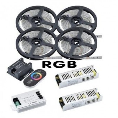 Kit banda LED 20m RGB 14W interior 0