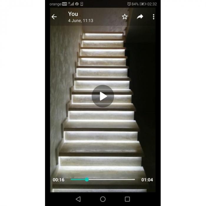 Kit Banda LED Iluminat Inteligent Trepte [1]
