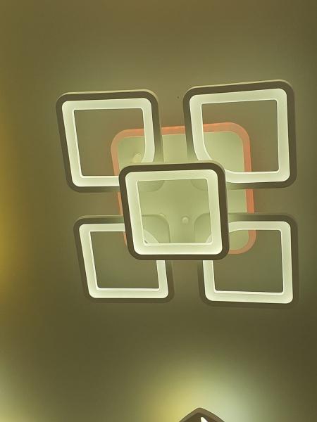 Lustra LED dimbila 80w cu telecomanda 3 functii si RGB 0