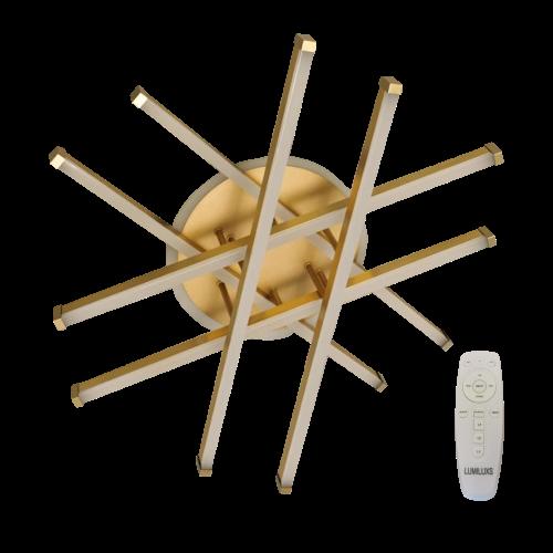 Lustra led dimabila 120w cu telecomanda 3 functii Gold 0