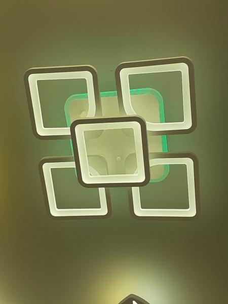 Lustra LED dimbila 80w cu telecomanda 3 functii si RGB 1