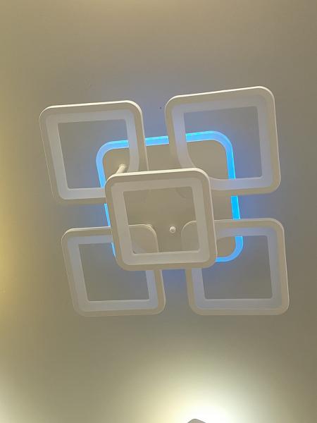 Lustra LED dimbila 80w cu telecomanda 3 functii si RGB 2