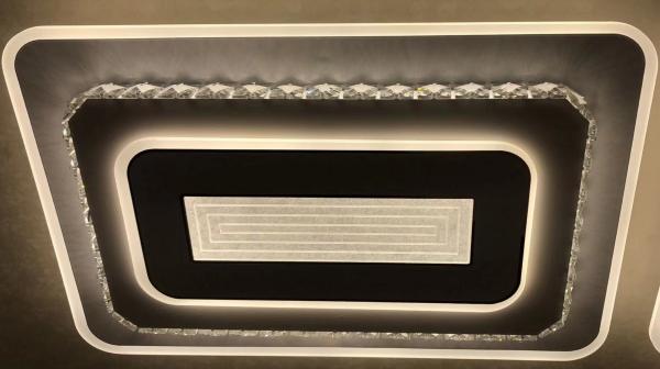 Lustra LED dimabila 180w cu telecomanda 3 functii Cristal [1]