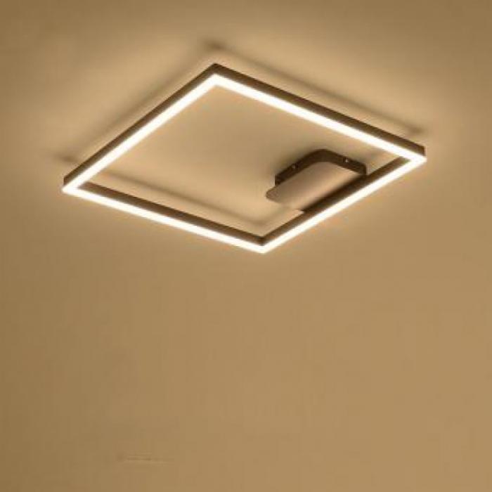 Lustra LED dimabila 80w cu telecomanda 3 functii wenge 1