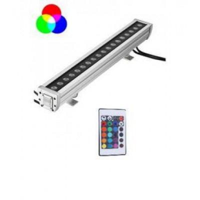 Proiector LED liniar RGB 1m cu telecomanda 24W 0