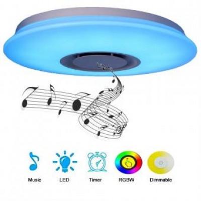 Aplica LED dimabila cu difuzor, bluetooth 72W RGB CCT [3]