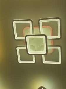 Lustra LED dimbila 80w cu telecomanda 3 functii si RGB0