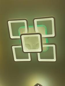 Lustra LED dimbila 80w cu telecomanda 3 functii si RGB1