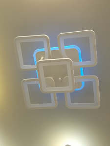 Lustra LED dimbila 80w cu telecomanda 3 functii si RGB2