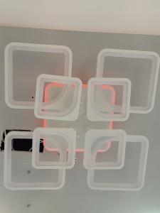 Lustra LED dimabila 160W cu RGB si telecomanda 4 functii1