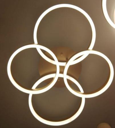 Lustra LED Dimabila 120w cu telecomanda 3 functii  Auriu-Gold [0]