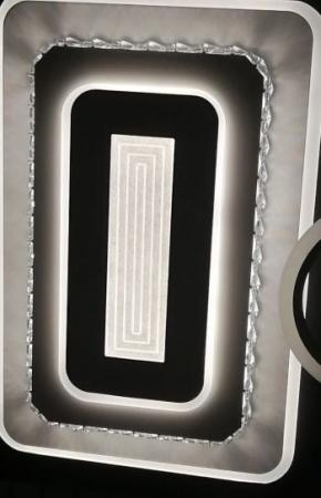 Lustra LED dimabila 180w cu telecomanda 3 functii Cristal [0]