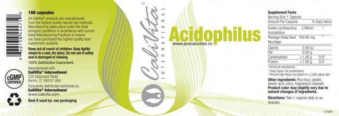 Acidophillus CaliVita 100 capsule. [1]