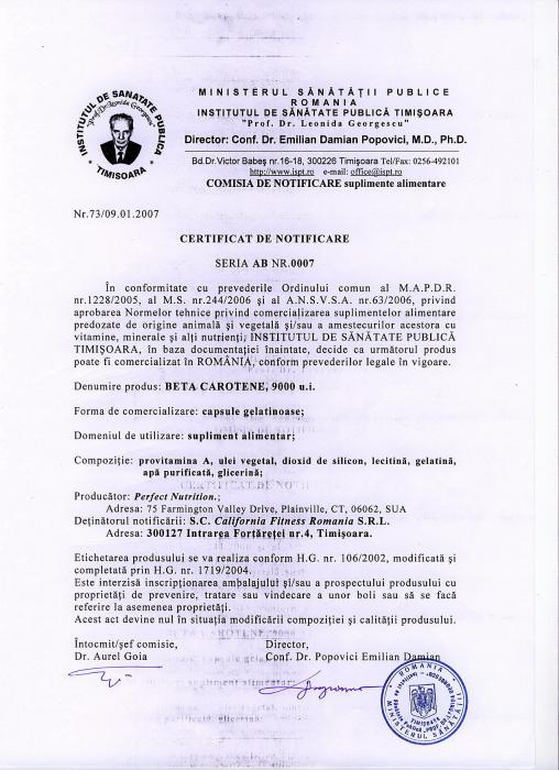 Beta Carotene CaliVita (100 capsule-gelatinoase) Precursorul vitaminic al vitaminei A [1]