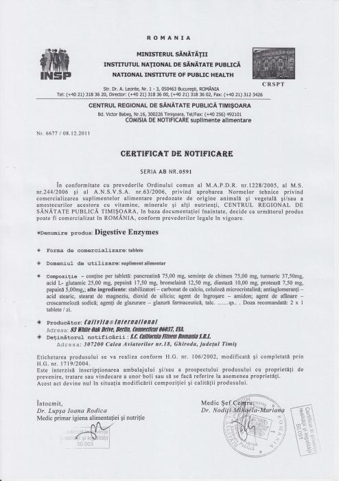 Digestive Enzymes CaliVita (100 tablete) Suport pentru sistemul digestiv [1]