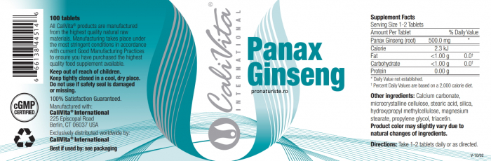Panax Ginseng (100 tablete) Preparat cu ginseng [1]