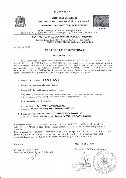 Green Care CaliVita (240 tablete) Produs Pentru Alcalizare [2]
