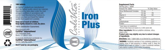 Iron Plus CaliVita (100 tablete) Fier cu Vitamina C [1]