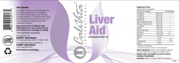 Liver Aid CaliVita (100 capsule) Protecţie hepatică [1]