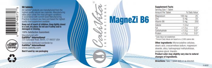 MagneZi B6 CaliVita (90 tablete) Magneziu + Vitamina B6 [1]