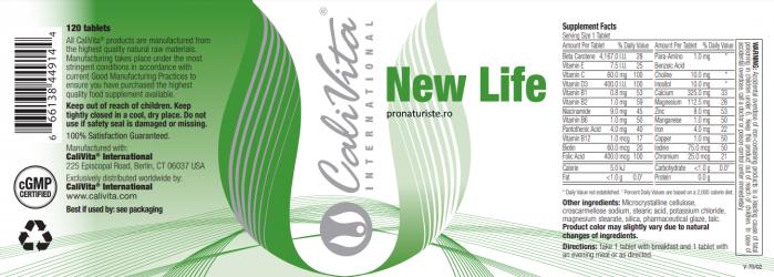 New Life CaliVita (120 tablete) Multivitamine pentru femeile însărcinate sau aflate la lactaţie [1]