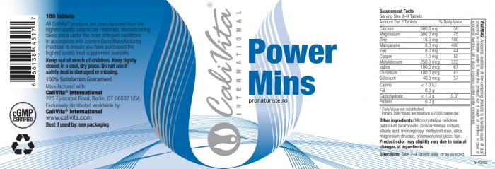 Power Mins (100 tablete) Complex de minerale [1]