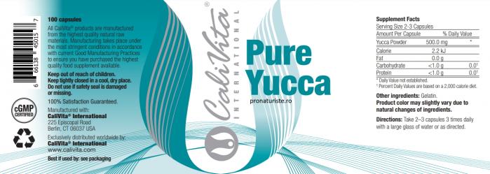 Pure Yucca (100 capsule)Yucca pentru detoxifiere naturala [1]