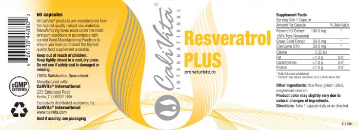 Resveratrol Plus (60 capsule) Protectie cardiovasculara [1]