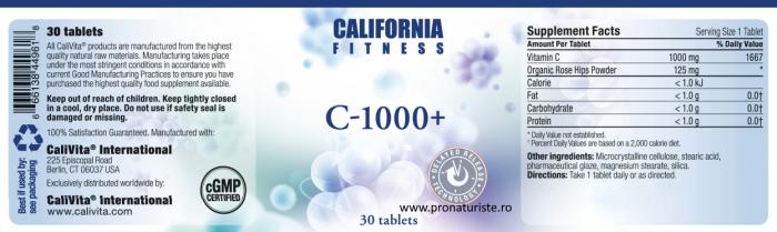 Produs naturist Vitamina C 1000 + (30 tablete) Megadoză de vitamina C [2]