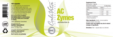 Ac Zymes CaliVita 100 capsule Supliment alimentar probiotic pentru sistemul gastrointestinal.1