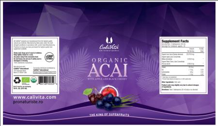 Organic Acai (473 ml) Acai organic cu suc organic de mere şi suc organic de cireşe negre [1]