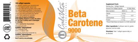 Beta Carotene CaliVita (100 capsule-gelatinoase) Precursorul vitaminic al vitaminei A [2]