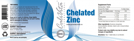 Chelated Zinc  CaliVita (100 tablete) Zinc organic2