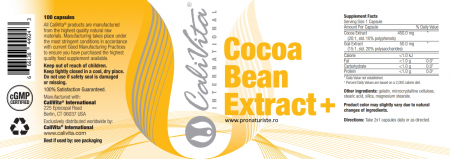 Cocoa Bean Extract+ CaliVita (100 drajeuri) ajuta in perioadele stresante [1]