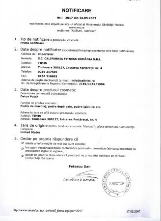 Detox Patch CaliVita (12 pliculeţe cu pulbere din extracte de plante) plasturi detoxifianţi [1]