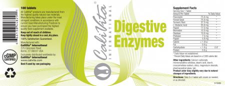 Digestive Enzymes CaliVita (100 tablete) Suport pentru sistemul digestiv [2]