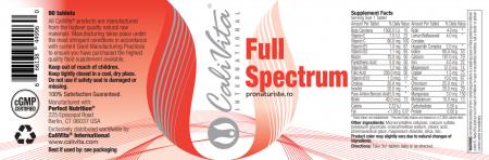 Full Spectrum CaliVita (90 tablete) Complex de Vitamine şi Minerale [1]