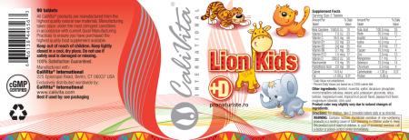 Lion Kids + Vitamin D (90 tablete masticabile) Multivitamine pentru copii [1]