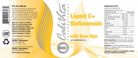 Liquid C + Bioflavonoids and Rose Hips CaliVita (240 ml) Vitamina C lichidă [1]