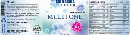 Multi One CaliVita (30 tablete) Complex de vitamine și minerale [1]