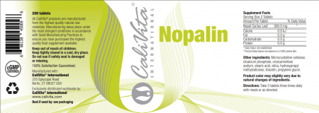 Nopalin CaliVita (200 tablete) Tablete cu fibre de cactus Nopal [1]